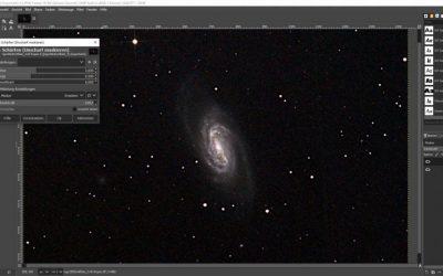 DeepSkyStacker, Fitswork und GIMP Tutorial
