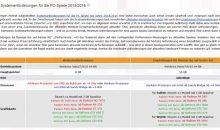 PC-Spiele 2015/2016 – Neue Systemanforderungen